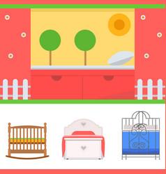 sleeping furniture design bedroom exclusive vector image vector image