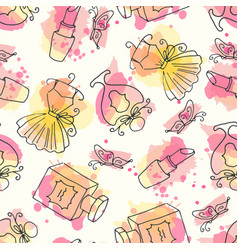 fashion hand drawn seamless vector image