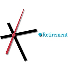Retirement financial planning time vector image vector image