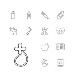 13 clip icons vector