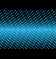 abstract blue arrow light pattern on black design vector image