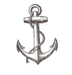 Anchor black white black-white print vector