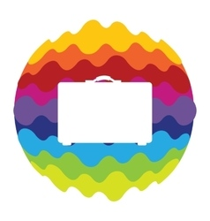 Bag Rainbow Color Icon for Mobile Applications and vector image