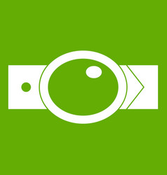 belt with oval shaped buckle icon green vector image