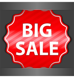 big sale sticker vector image