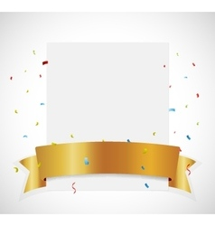 Birthday Celebration banner with gold ribbon vector
