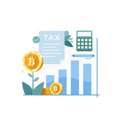 bitcoin tax concept vector image