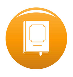 book design icon orange vector image