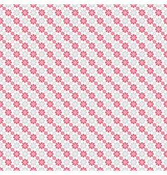 Chic seamless pattern Pink white vector image