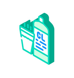 Chlorine smell isometric icon vector