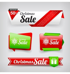 Collection of Christmas web tag banner promotion vector image