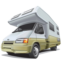 Compact camper vector