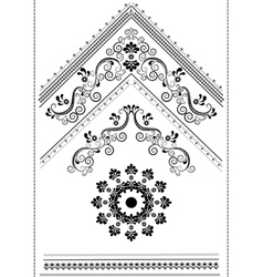 Decorative corner with an ornament for the page vector image