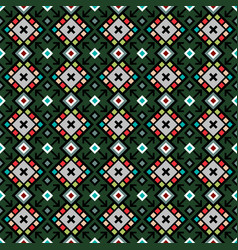 decorative geometric pattern in green vector image