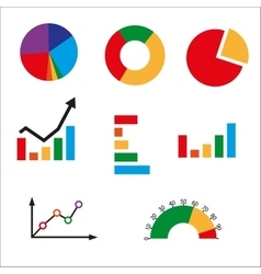 Different kinds of business charts vector