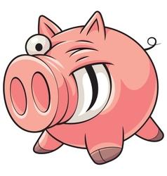 Fat pig vector