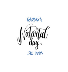 February 4 - national day - sri lanka hand vector
