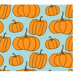 halloween pumpkin pattern vector image