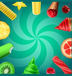 ice cream flavors vector image