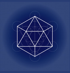 Icosahedron from metatrons cube sacred geometry vector