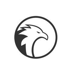 illustration circle eagle logo concept vector image