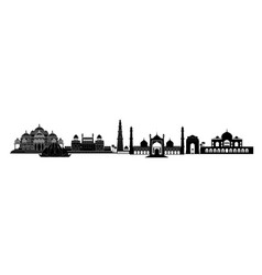 india delhi landmarks indian city new-delhi vector image