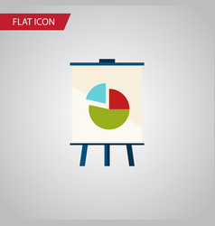 Isolated chart flat icon easel element can vector