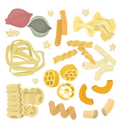 italian pasta food set icon vector image