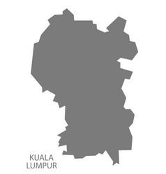 kuala lumpur malaysia map grey vector image