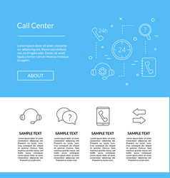 line call support center icons template vector image