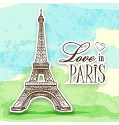 love in Paris Efel vector image