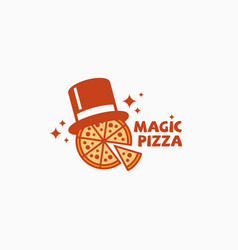 magic pizza logo vector image