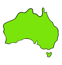 map australia icon cartoon vector image