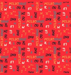 Melbourne pattern seamless design vector