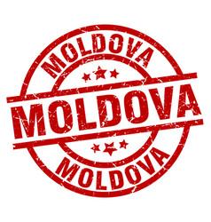 Moldova red round grunge stamp vector