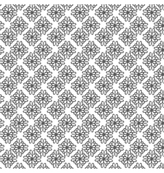Monochrome ornament on transparent background vector image
