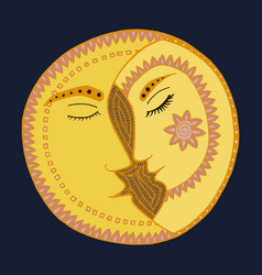 moon man and woman in love vector image