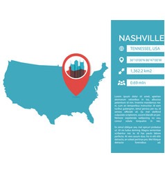 nashville map infographic vector image