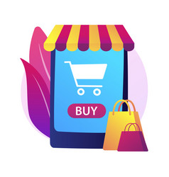 online shopping abstract concept vector image
