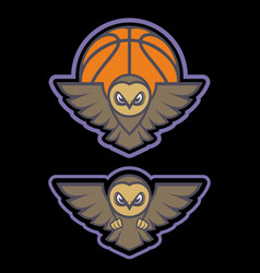 owl mascot logo design with modern vector image