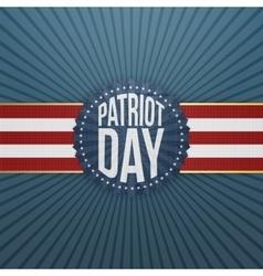 Patriot Day paper festive Badge vector image