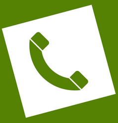 phone sign white icon vector image