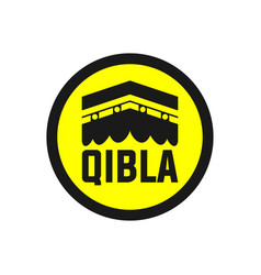 qibla sign qibla icon muslim prayer direction vector image