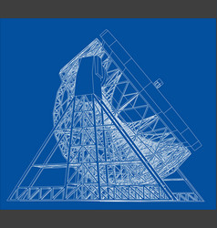 Radio telescope concept outline vector