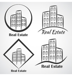 Real Estate company logotype icon vector image vector image