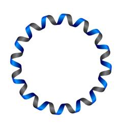 Ribbon circle vector