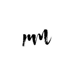 Rm r m alphabet letter logo icon combination vector