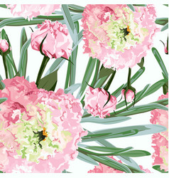 roses peony and greenery vector image