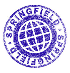 Scratched textured springfield stamp seal vector