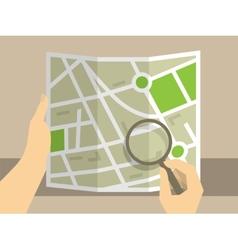 Search on map vector